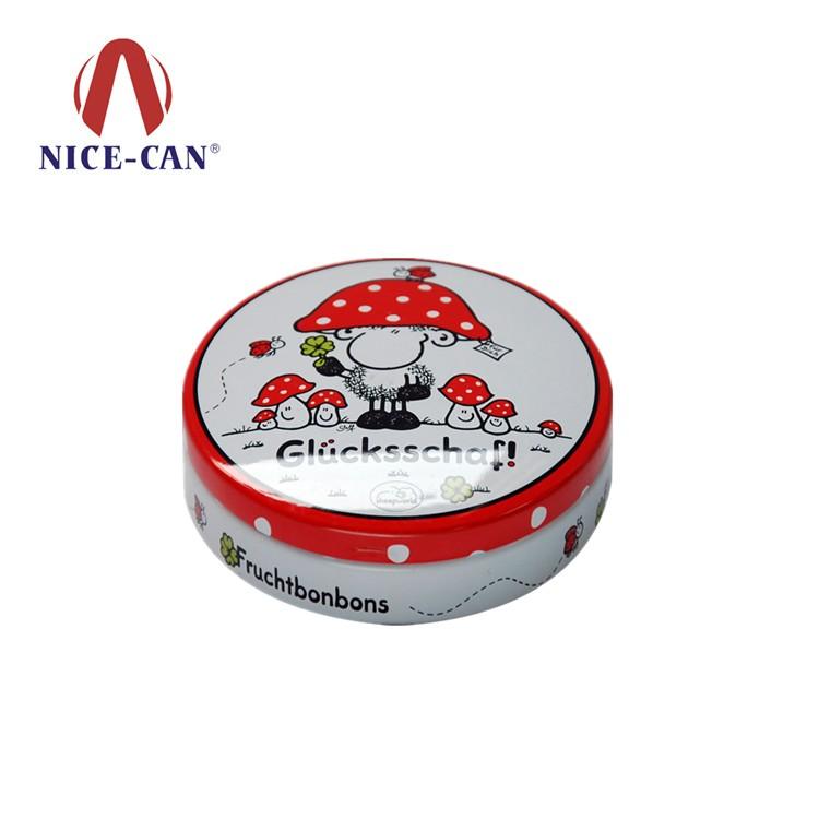 圆形铁盒 迷你月饼铁盒 NC2914