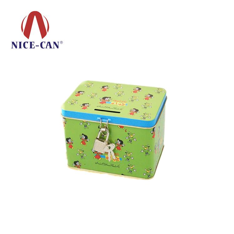 带锁小铁盒 铁盒厂家生产马口铁存钱罐 NC2049