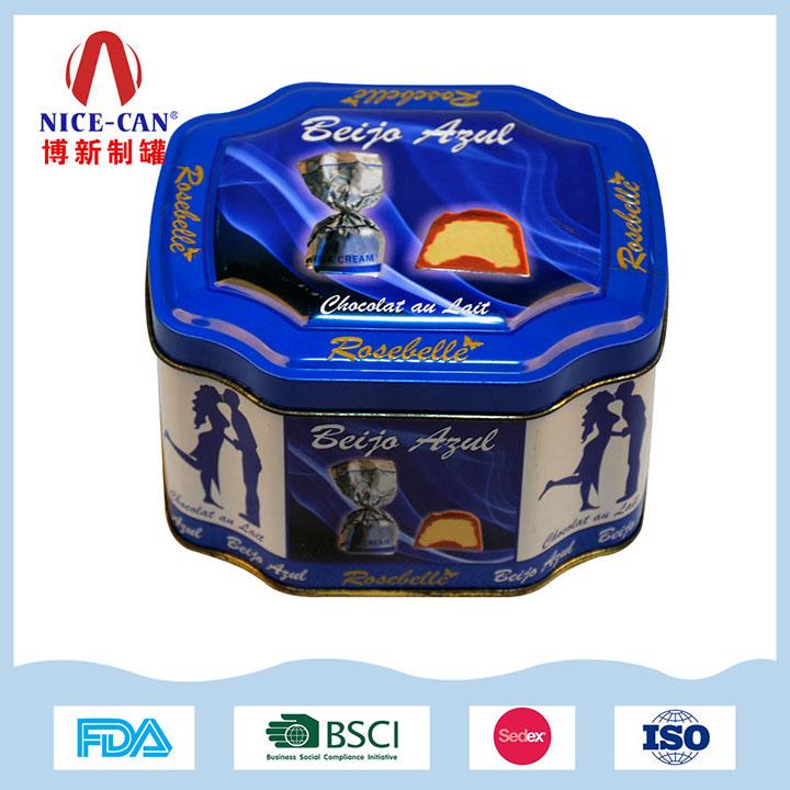瑞士糖果铁罐包装|马口铁食品铁盒 NC2555