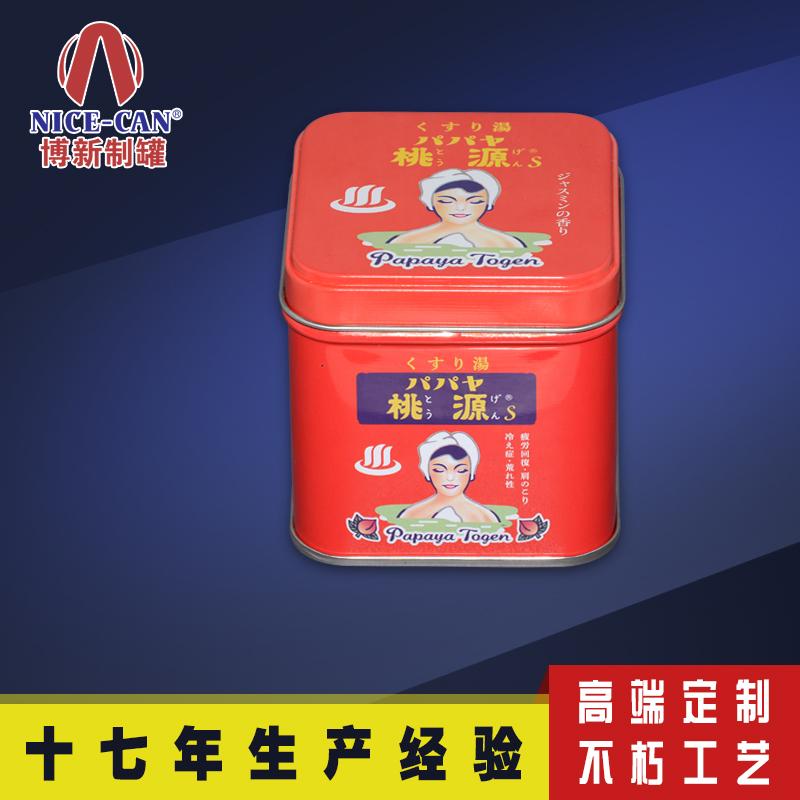 食品金属包装盒 坚果铁盒 正方形马口铁盒包装定制 NC3248-001