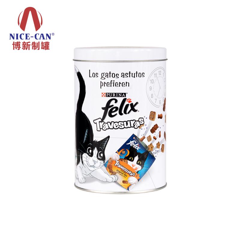 食品铁盒铁盒|猫粮包装铁盒|马口铁罐包装|宠物饼干铁罐 NC2632-028