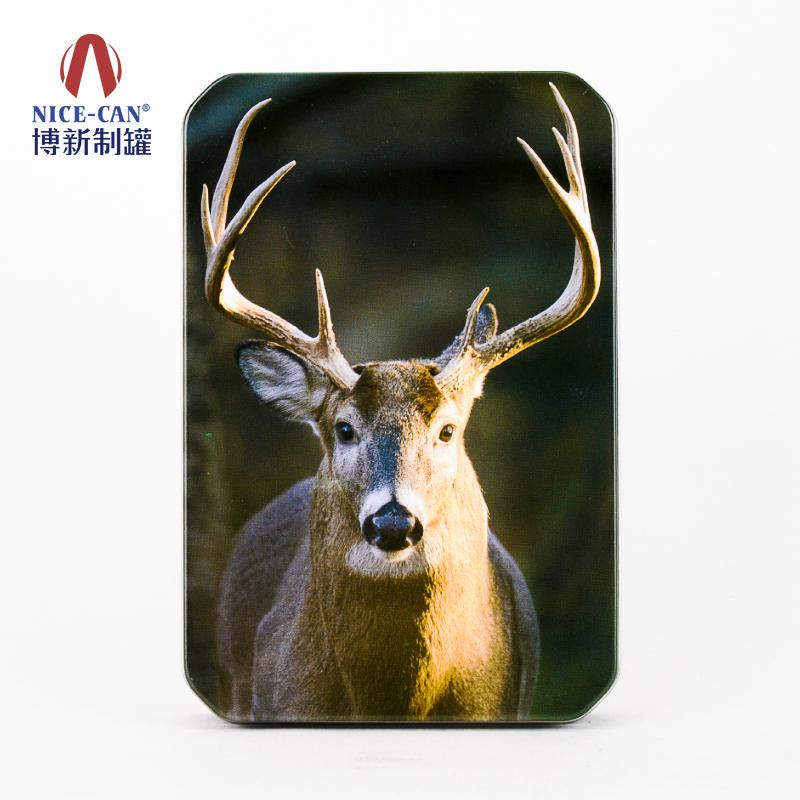 铁皮包装盒|马口铁盒子|保健品铁盒|方形铁盒 NC3304-001带鹿头印刷