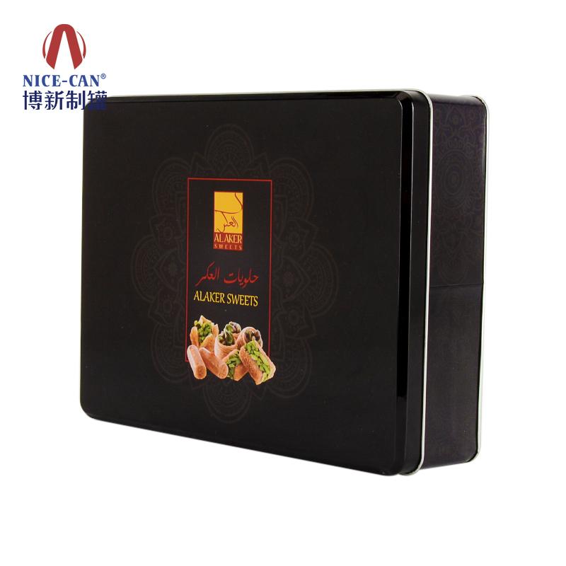金属饼干盒包装 饼干铁盒包装定制 正方形铁盒包装 马口铁饼干盒 NC2935-003