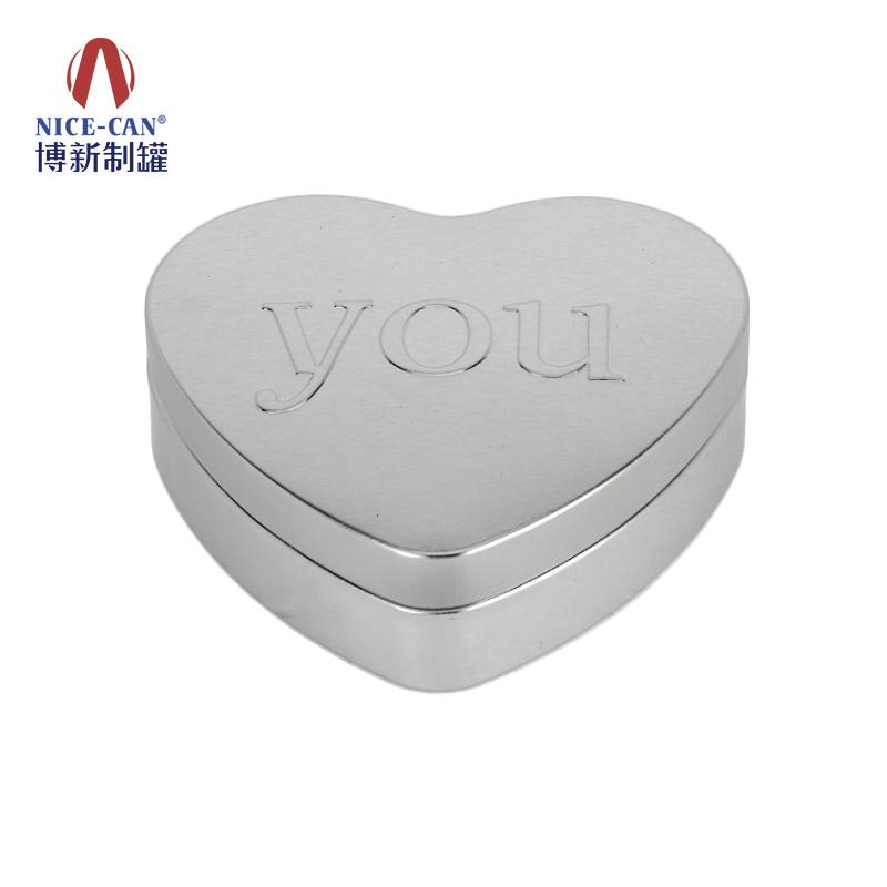 心形糖果铁盒|喜糖铁盒|马口铁心形铁盒|糖果金属铁盒 NC3084光油板