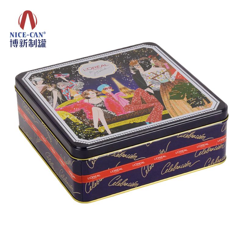 饼干包装铁盒|正方形饼干铁盒|饼干铁盒包装|马口铁饼干盒 NC3235H71-004