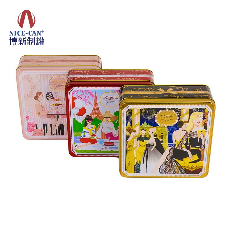 通用食品铁盒|饼干铁盒包装|食品包装铁盒|方形铁盒 NC3235H71-001/002/003