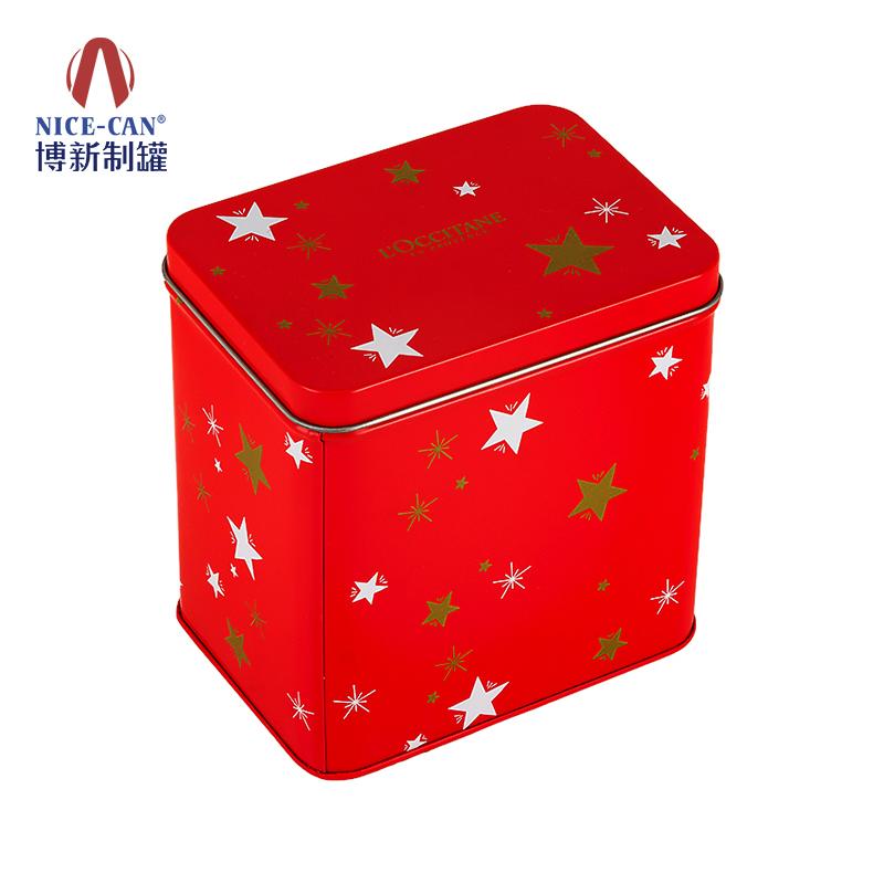 礼品铁盒包装|方形铁盒|食品包装铁盒|红色铁盒 NC2825A-011