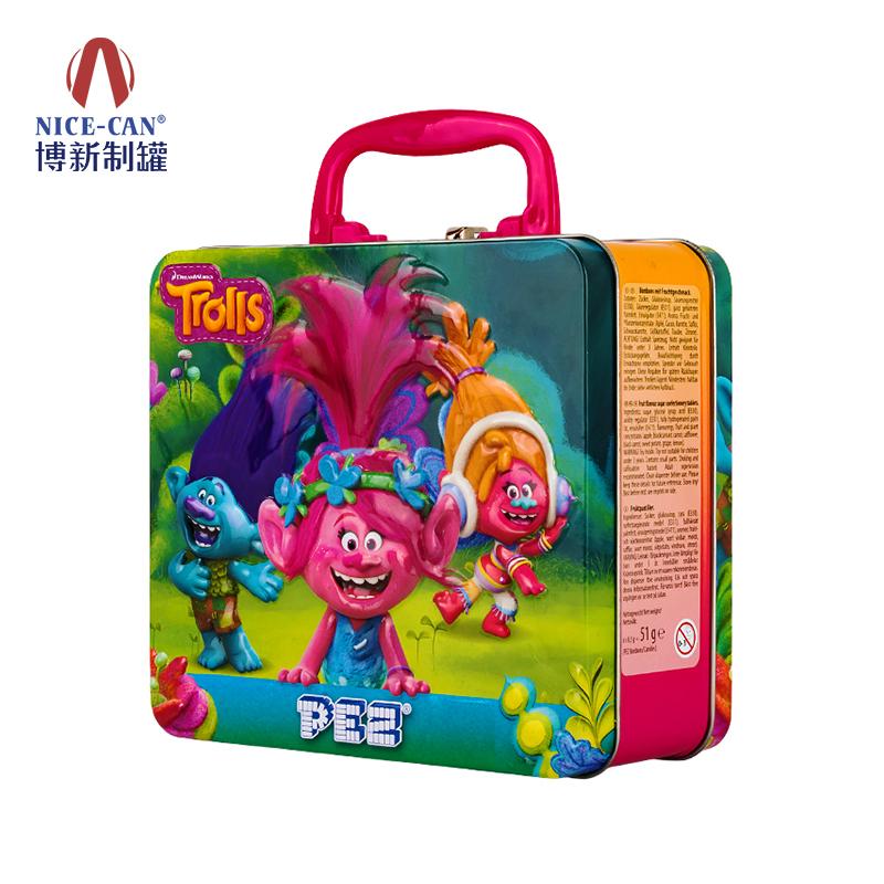 手提式午餐盒 带锁扣开窗午餐盒 儿童马口铁午餐盒 NC3017-012