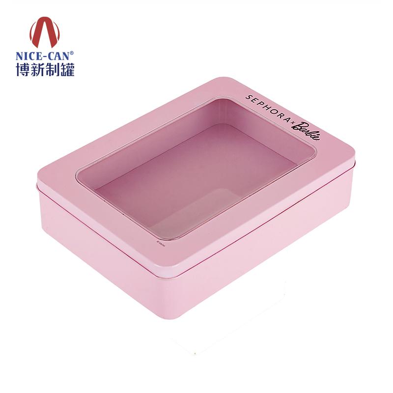铁盒化妆品|马口铁化妆盒|开窗化妆品铁盒|长方形化妆铁盒 NC3157A-005