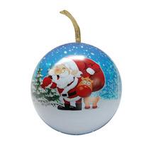 圣诞节礼品盒 球形糖果盒 马口铁罐 铁盒定制
