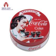 圆形马口铁盒|果味压片糖铁盒|薄荷糖果铁盒|压片糖铁盒定制NC2029