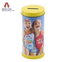 马口铁存钱罐|圆形硬币储存罐|圆形铁罐 NC2032A