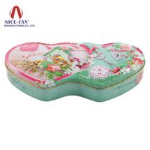 心形月饼包装铁盒|厂家马口铁喜糖盒|结婚糖果盒 NC2673H