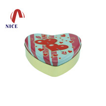 心形马口铁盒定制|巧克力铁盒|马口铁喜糖盒 NC2613