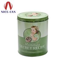 圆形化妆品铁盒 洗面奶铁盒包装  爽身粉铁盒定制 NC2416