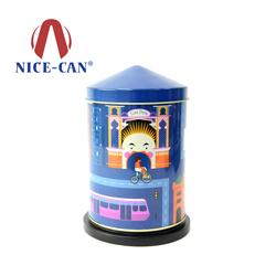 创意旋转音乐铁罐 儿童衣物收纳铁盒NC3137