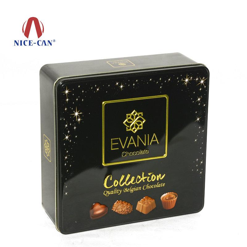 高档方形德国巧克力铁盒包装
