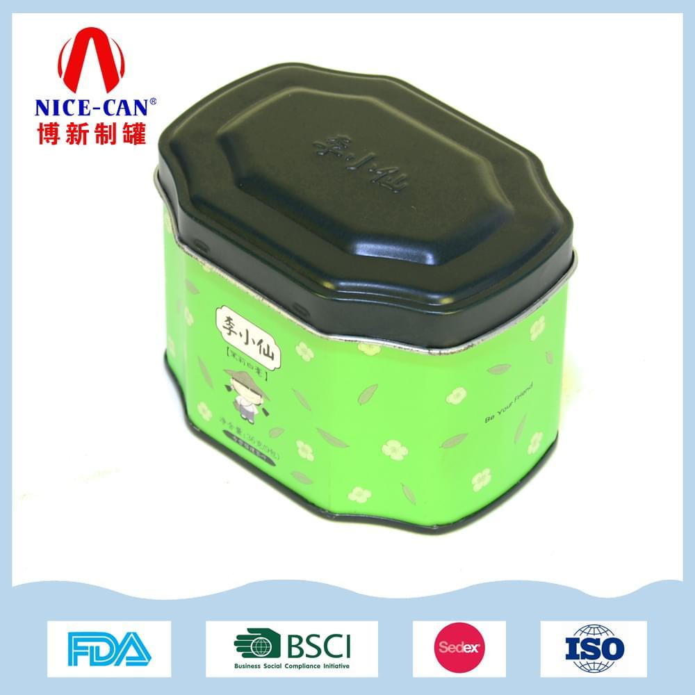 八角形茶叶铁盒|马口铁茶叶铁罐定制 NC2987