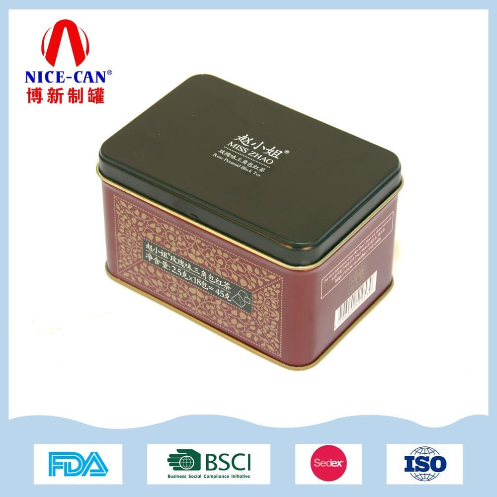 45g赵小姐红茶茶叶铁盒|马口铁红茶包装铁罐 NC3056-005