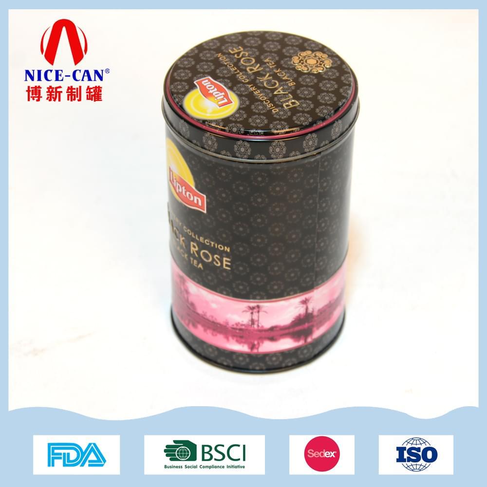 圆形立顿红茶茶叶铁罐|马口铁茶叶包装盒  NC2849B