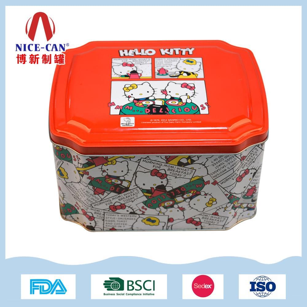 八角糖果铁罐 高档马口铁糖果食品盒 NC2727-004