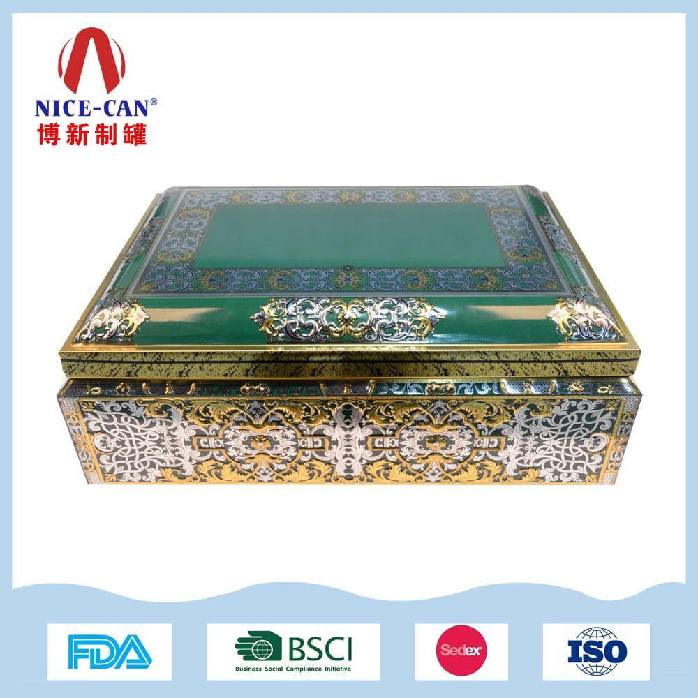 大号方形珠宝铁盒| 收纳铁盒首饰礼盒定制 NC3081