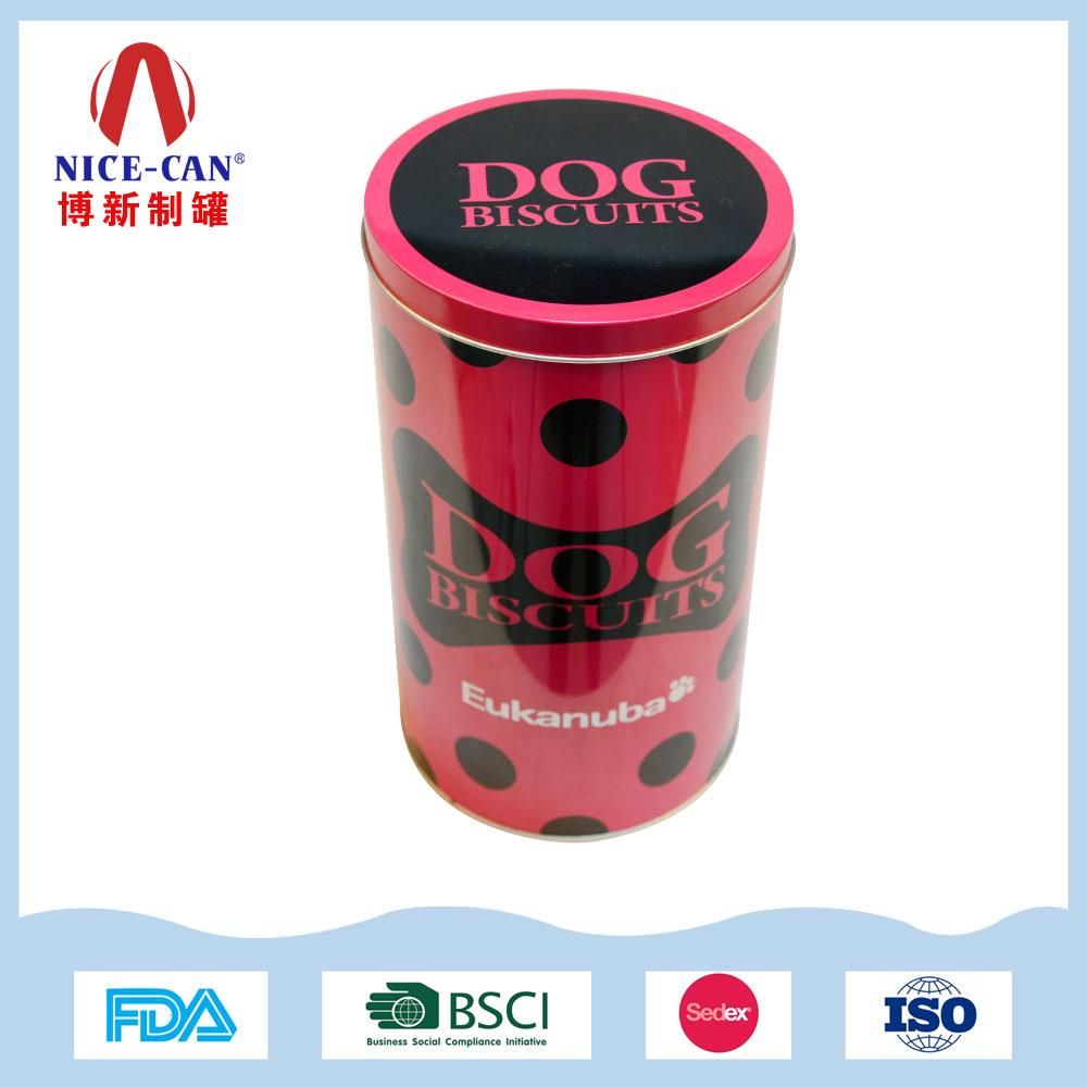圆形狗粮铁罐|宠物粮包装铁盒 NC2503A-001