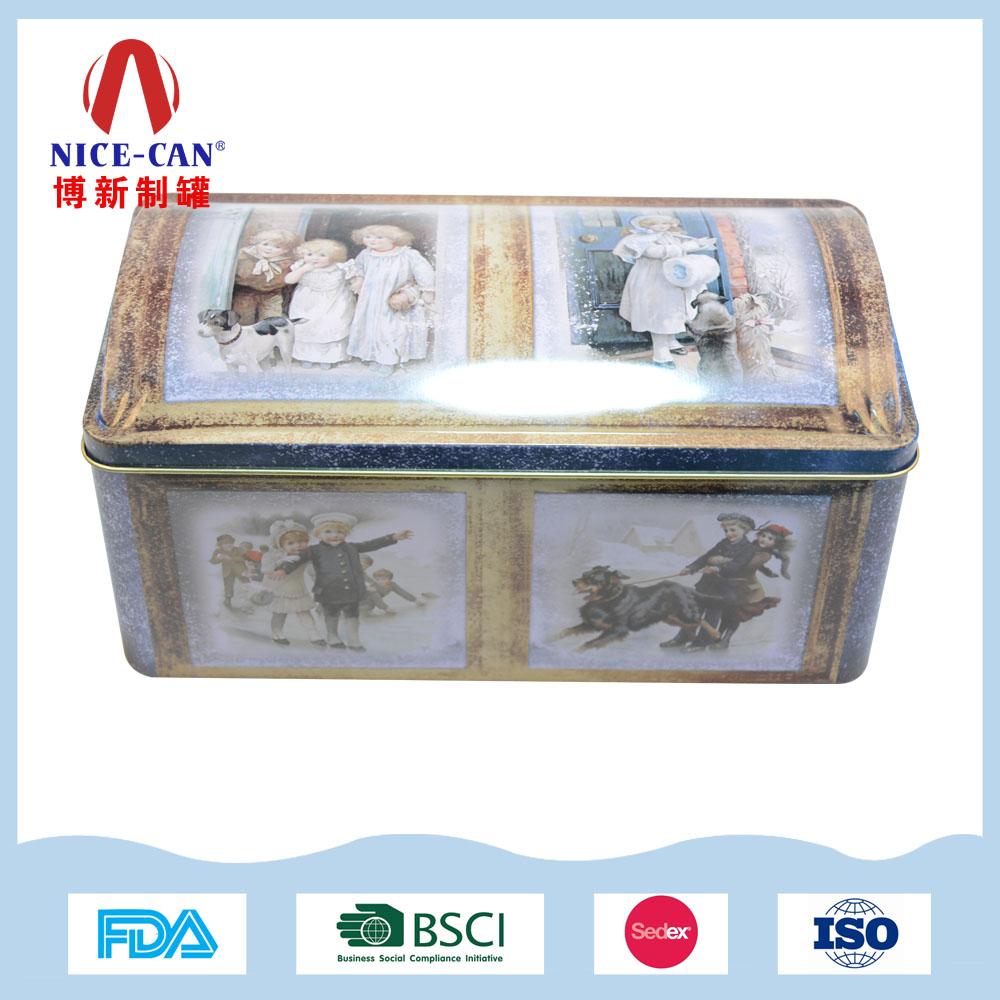 方形礼品铁盒包装|化妆品首饰收纳金属盒  NC3123