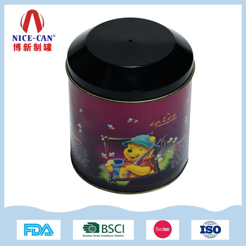 圣诞礼品铁罐子|中号圆形马口铁盒 NC2679