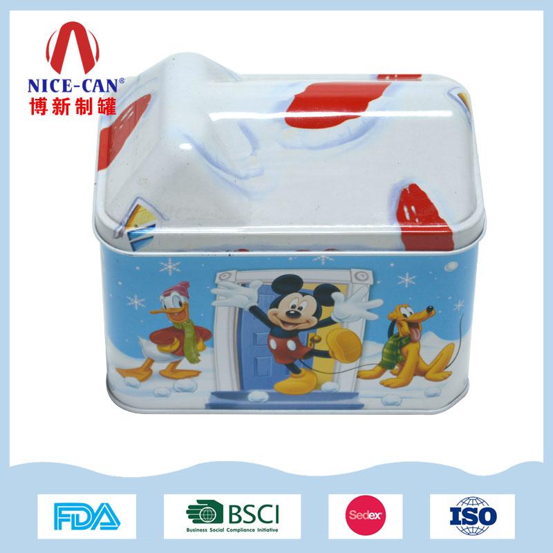 马口铁房子音乐铁盒|圣诞礼品包装铁盒 NC2697B