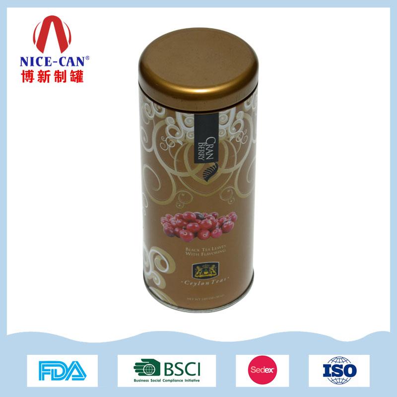 圆形茶叶铁罐 马口铁水果花茶茶叶铁罐 NC2880
