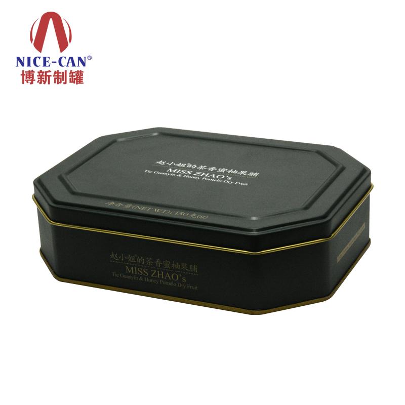 赵小姐的茶铁盒包装|马口铁罐茶叶储存盒|八角形茶叶罐  NC3053