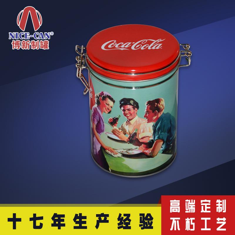 咖啡豆铁罐|圆柱形马口铁罐食品包装|铁罐食品罐