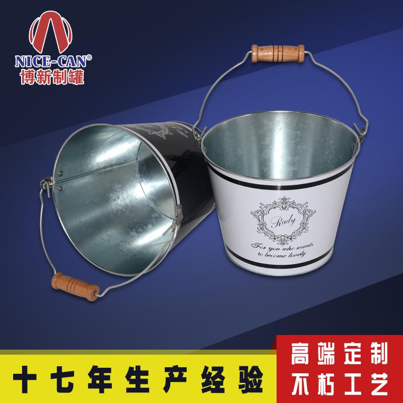手提马口铁冰桶|镀锌铁冰桶|圆形金属铁桶 NC2365