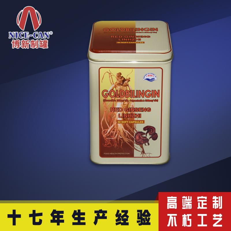 保健品铁罐|枸杞干果包装铁盒|长方形人参铁盒包装 NC2552A-013