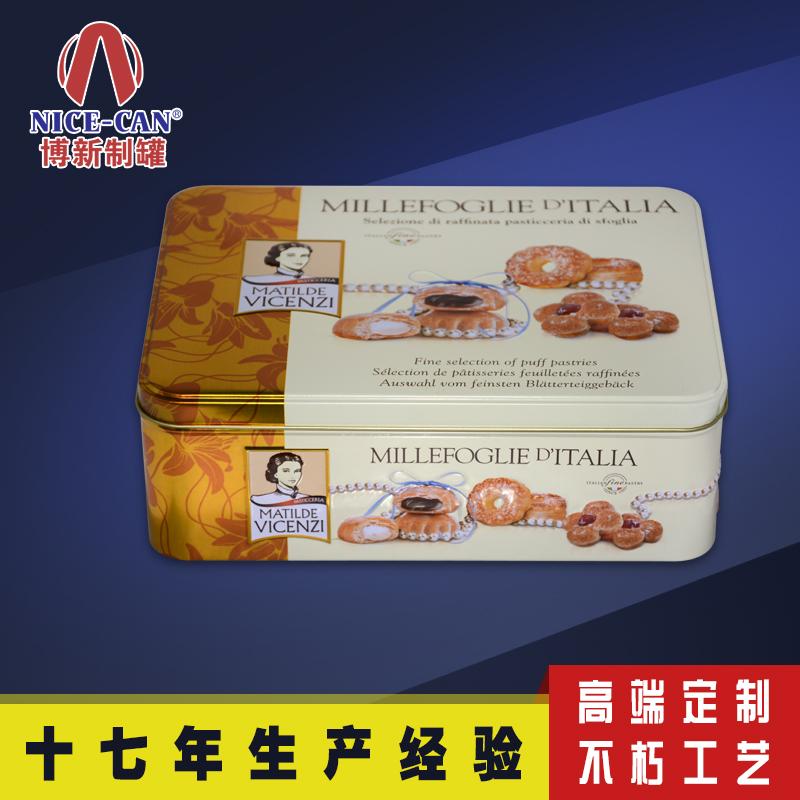 手工曲奇饼干铁盒|长方形饼干铁盒|马口铁糖果盒定制 NC3024B-007