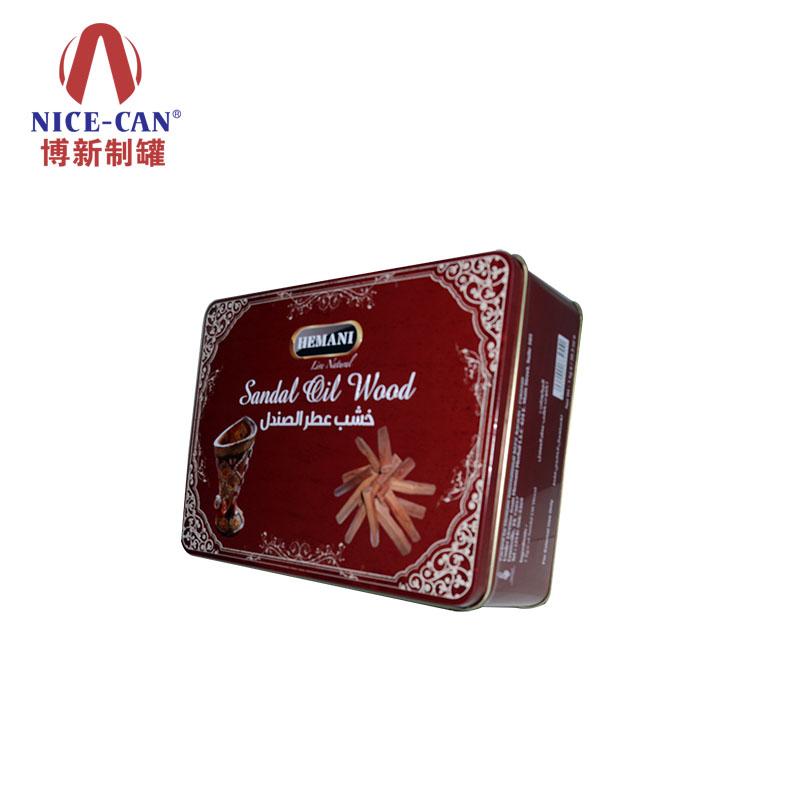 大号翻盖马口铁盒|灵芝包装铁罐|保健食品铁盒定制 NC2833H-001