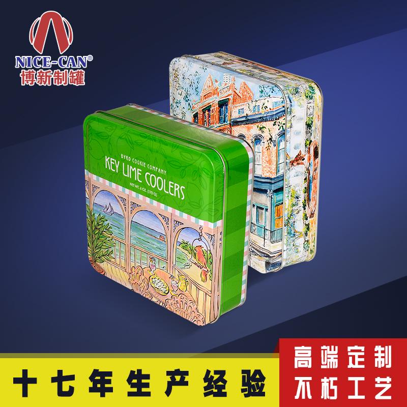 金属饼干盒|方形马口铁盒包装|糖果铁盒包装定制 NC2494-007