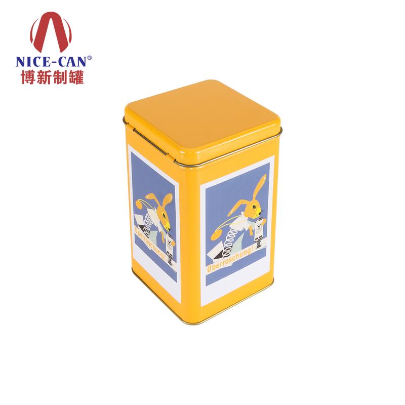 长方形铁罐|饼干铁罐|糖果铁盒|翻盖马口铁盒 NC2519C-019