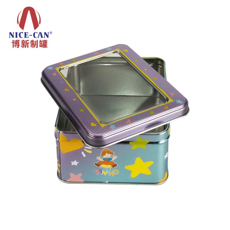 玩具铁盒|长方形马口铁盒|开窗铁盒包装|糖果铁盒 NC2585-001
