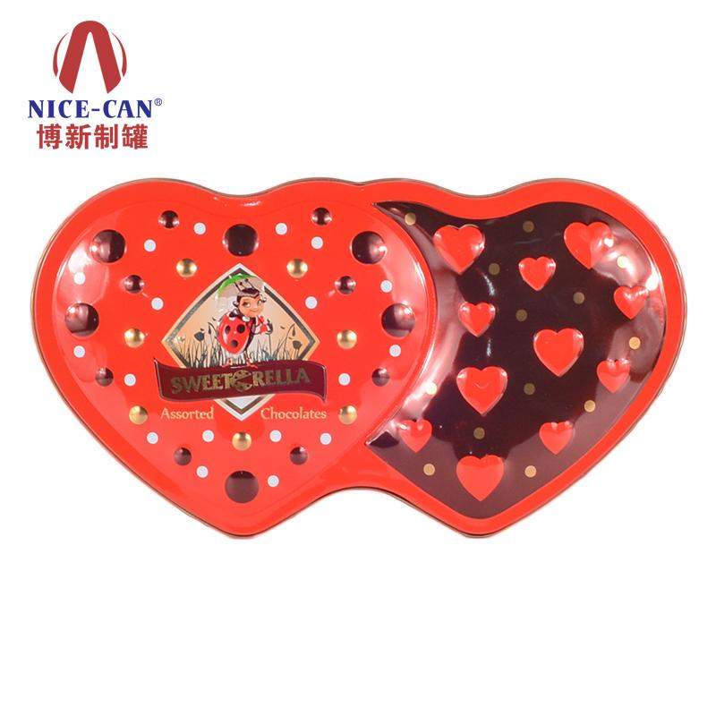 喜糖铁盒|礼品包装铁盒|心形马口铁盒|马口铁罐 NC2673H-008