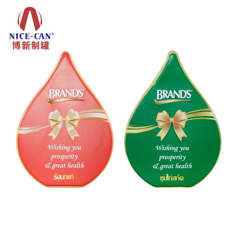水滴形铁盒包装|巧克力铁盒包装|马口铁礼品盒 NC3258