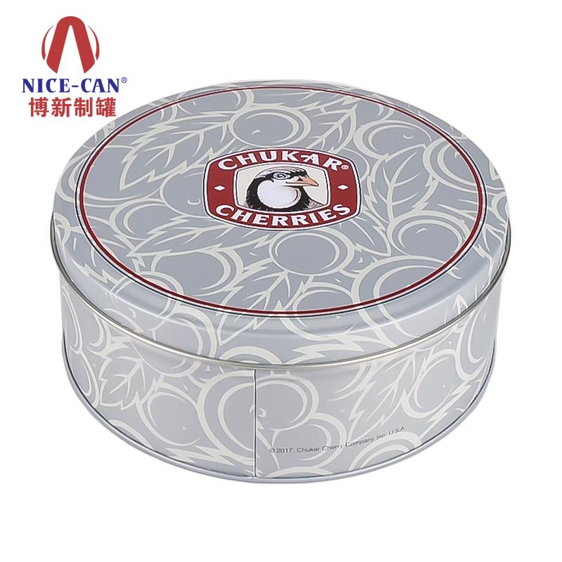 曲奇铁盒包装|圆形饼干铁盒|糖果食品铁罐 NC2267S-H-003