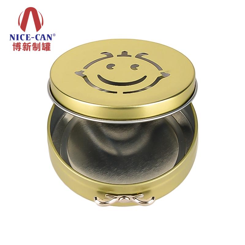圆形小铁盒|化妆品唇膏迷你铁盒|小巧化妆品铁盒 NC2787