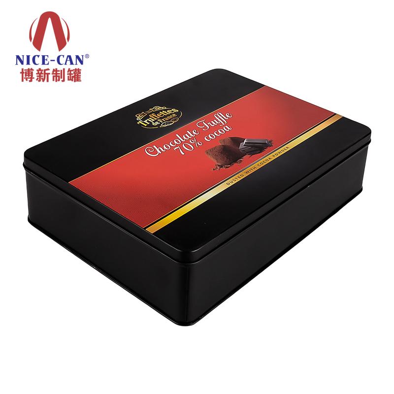 巧克力铁盒礼盒包装|长方形巧克力铁盒|方形巧克力金属铁盒 NC2843B-006