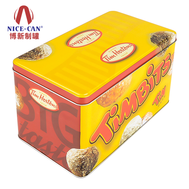 曲奇饼干包装铁盒|方形巧克力金属铁盒|巧克力铁盒礼盒包装 NC2943-003