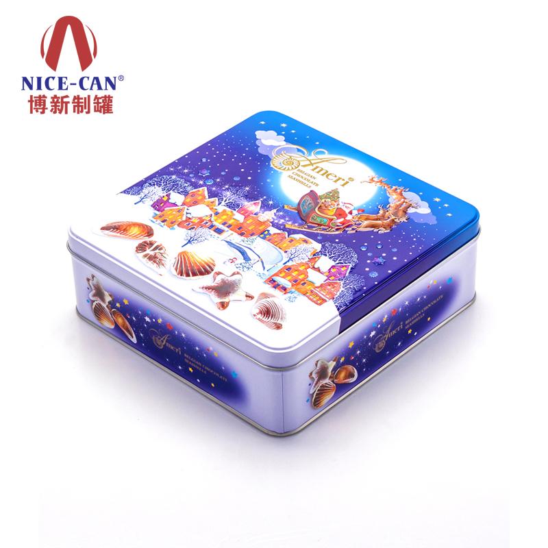 方形圣诞礼品盒 马口铁食品盒 NC3235