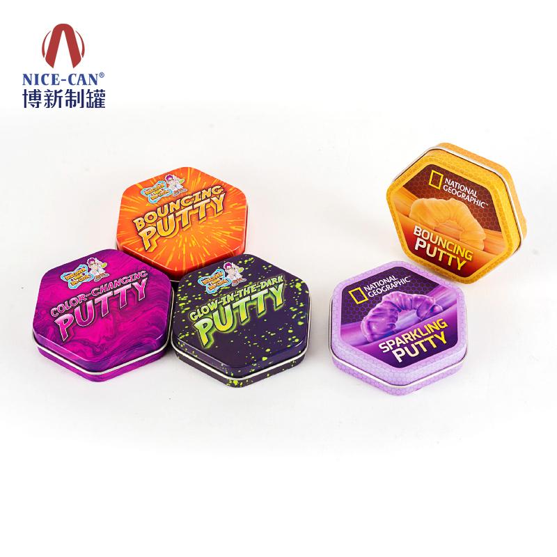 橡皮泥包装铁盒|玩具铁盒|六角小铁盒 NC3296-H20