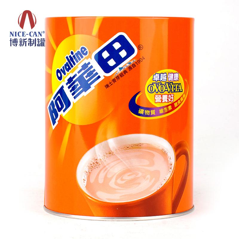 奶茶马口铁罐|粉剂铁罐|圆形马口铁罐包装 NC2002