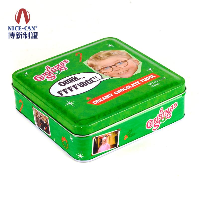 饼干铁盒|礼盒包装铁盒|方形铁盒 NC2494-134绿色